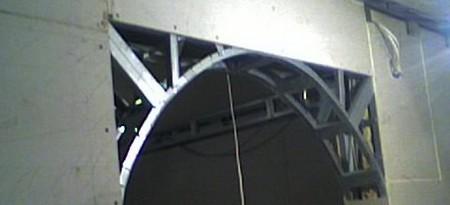 Схема арки из профиля